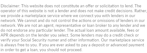 disclaimer for MonthlyInstallmentLoanLenders.com